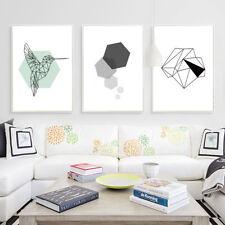 Motivational Geometry Canvas Poster Bird Prints Nordic Abstract Art Wall Decor