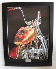 Indian Larry Rat Fink Daddy-O Bobber Framed Signed Ltd Ed Motorcycle Art Print