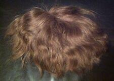 100% Human Hair Top Bald Or Volume Hair Piece Wig Clip Mesh Blonde High Quality