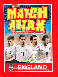 MATCH ATTAX - England 2006 - NEW SEALED PACKET - Topps World Cup Germany 06