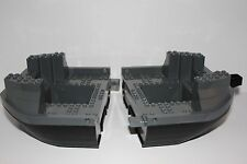 Lego Boat Ship BOW AND STERN HULL Dark Bluish Gray and Black 4768 The Drumstrang