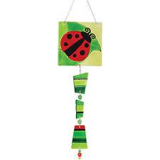 Ladybug Glass Windchime Pr 81102