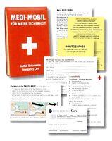 Medi-Mobil Notfall Dokumententasche Vorsorge Ausweishülle Notfallausweis RNK