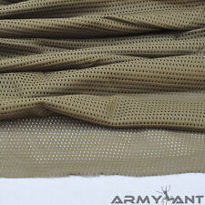 "TAN Khaki Sand Camouflage Net Cover Army Military 60""W Mesh Fabric Cloth"