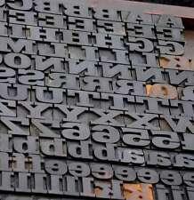 "letterpress wood printing blocks 243pcs 0.87"" tall wooden type woodtype alphabet"