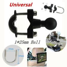 "1*25mm Ball Motorcycle Handlebar Fixed Phone GPS Camera Cylinder Pump Cap ""Mount"