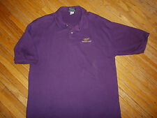 MILLER GENUINE DRAFT POLO SHIRT Embroidered MGD Beer Drinking High Life vtg 90s