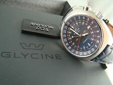 Glycine Men's 3903.188 Airman SST 12 GMT ETA 2893-2 Automatic Leather Date Watch