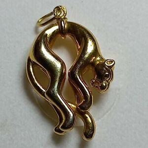 pendentif or 18 carats, type panthère de chez Cartier