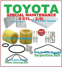 10-13 CAMRY TUNE UP / MAINTENANCE KITS: SPARK PLUGS BELT; AIR, CABIN, OIL FILTER