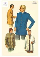 Vintage Sewing Pattern Men's Nehru Jacket Sewing Pattern Slim Fit Chest 40""