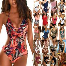 Women Push Up Monokini One Piece Cut Out Swimwear Swimsuits Bathing Suit Beach