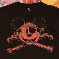 Walt Disney World T Shirt Adult M Black Mickey Mouse Pirate Buccaneer