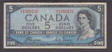 "Canada P. 68a-0231 5 Dollars 1954 sig Coyne-Towers ""Devil's Head"" Px A/C QE II F"