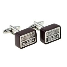 Retro Wireless Radio Cufflinks Presented in a Box X2AJ955