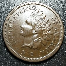 1872 Indian Head Coin Copper Penny Rare key date excellent condition USA 1c
