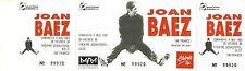 RARE / TICKET CONCERT - JOAN BAEZ LIVE A LILLE ( FRANCE ) MAI 1993 / COMME NEUF