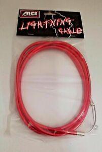 MCS LIGHTNING BRAKE CABLE BMX MTB FIXIE CHROMED RED