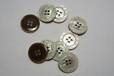 10pc 15mm Mother of Pearl Cream Knitwear Coat Skirt Baby Cardigan Button 3064