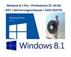 Microsoft Windows 8.1 Pro Vollversion 32 & 64 Bit Product-Key OEM + GRATIS DVD