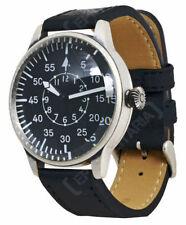 Vintage-Armbanduhren mit Armband aus echtem Leder für Herren