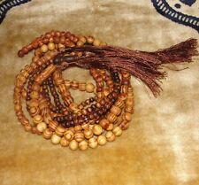 Prayer Wood 99 & 199 Beads Rosary Subha Tasbeeh Misbaha Allah Dhikr Muslim Islam