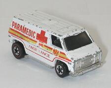 Redline Hotwheels White 1975 Paramedic Van oc11272