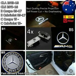 4x Puddle Lights Welcome Courtesy Door for Mercedes Benz CLA CLS C E Coupe AUS