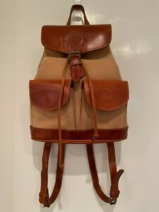 Timberland Suede and Leather Backpack Beige and Tan, used but not worn