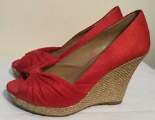 Size AU 7 / EUR 38 / UK 5 / US 7 Women's Fine Suede Peep Toe Pleat Detail Wedge