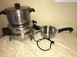 SALADMASTER 7817 Stainless Steel Electric Skillet & Stock Pot & Sauce Pan