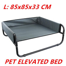 Pet Dog Puppy Cat Elevated Walled Suspension Bed Trampoline Hammock Grey Color L 85x85x33cm