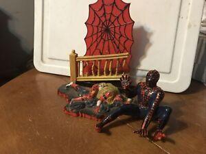 Aurora Model Build Up 1974 Spiderman Spider-Man Comic Scene ORIGINAL
