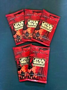 Decipher Star Wars ccg DEATH STAR II limited edition *sealed* BOOSTER PACK (x5)