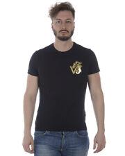 Versace Jeans Tank Top T shirt SLIM Baumwolle Herren Schwarz B3GRA77F Y6A