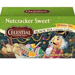 Celestial Seasonings Black Tea, Nutcracker, 20 Count (Pack of 6)
