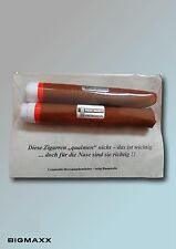 2er Pack weisse Herren Taschentücher als Taschentuch Zigarren Geschenkset