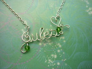 Personalised Name Necklace - Silver - 8 letters With Silver Chain