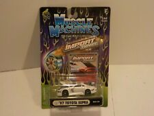 N 97 TOYOTA SUPRA White Muscle Machines 1:64 Scale Diecast Import Tuner