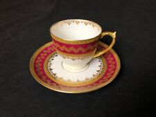 Beautiful Gda Limoges France Demitasse Coffee/Expresso Cup & Saucer