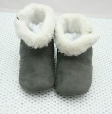 Obaïbi paire de chaussons suédine gris bébé  taille 19/20