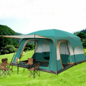 Camping Tent Large Capacity Travel Tent Family Camping Shelter Waterproof Tents