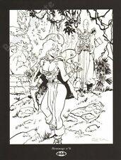 Ex-libris Félix MEYNET Hommage 6 à Pélisse Loisel Sérigraphie NB signé 20,5x26,7