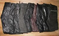 9 LEDERJEANS incl. 1 Lederhose (n) in verschiedenen Größen und Farben