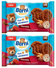 BEAR BARNI CHOCO Soft Sandwich Biscuits Cookies Cocoa Chocolate Filling 2 x 180g