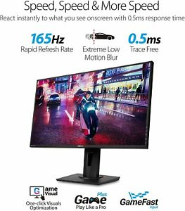 """ASUS VG278QR 27"""" Gaming Monitor, 1080P Full HD, 165Hz (Supports 144Hz) - NEW!"""