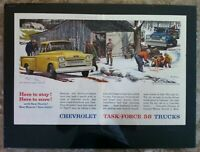 "1958 Chevrolet Apache Pickup Trucks *Original* ""Ready to Display"" print ad Maple"
