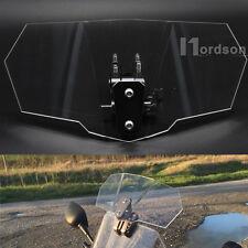 Motorcycle Windshield Airflow Adjustable Clear Windscreen Wind Deflector New