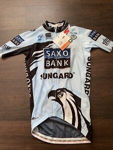 Sportful Saxo Bank Team Jersey Medium Contador Short Sleeve Aero Tour de France