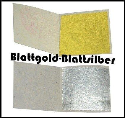 Blattgold-Blattsilber